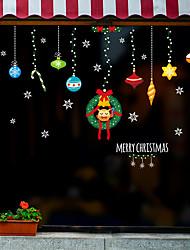 Недорогие -рождественские украшения оконная пленка&и украшения наклейки животных / с рисунком праздник / характер / геометрические ПВХ (поливинилхлорид) стикер окна