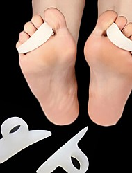 cheap -1Pair Foot Pain Relief Pads Feet Care Shoes GEL Toe Corrector Hammer Toes Separator Protector Cushion