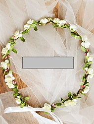 cheap -Grosgrain / Non-woven Paper Hair Accessory / DIY  Headpieces with Flower 1 Piece Wedding / Outdoor Headpiece