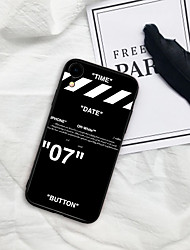cheap -Case For iPhone X XS Max XR XS Back Case Soft Cover TPU Black pattern TPU for iPhone5 5s SE 6 6P 6S SP 7 7P 8 8P