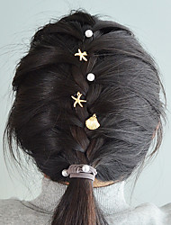 cheap -Women's For Daily Holiday Imitation Pearl Alloy Gold 5pcs