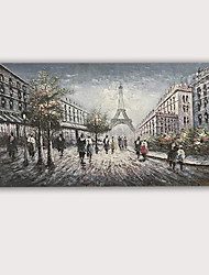 cheap -3D Oil Painting Hand Painted - Abstract Portrait Abstract Modern Rolled Canvas High Quality Antelop Eiffel Tower