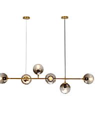 abordables -JSGYlights 6 lumières Grappe / Plafonnier pour Ilôt de Cuisine Lustre Lumière d'ambiance Plaqué Métal Verre Design nouveau 110-120V / 220-240V