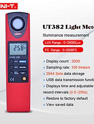 Недорогие -Цифровые измерители освещенности uni-t 20-20000 люксметров люксметры люкс / фк метров с интерфейсом USB регистрация данных фотометр ut382