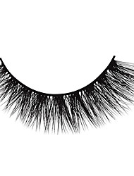 cheap -Eyelash Extensions 6 pcs Simple Women Ultra Light (UL) Comfortable Casual Convenient Animal wool eyelash Daily Wear Vacation Full Strip Lashes - Makeup Daily Makeup Classic Cosmetic Grooming Supplies