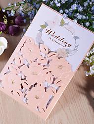 "cheap -Side Fold Wedding Invitations 50pcs - Invitation Cards Pearl Paper 7 1/2 ""×6 1/4"" (19*13.5cm)"