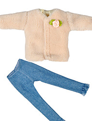 cheap -Children Multi-style Mini Clothes Pants Tops Toy for 29CM Female Doll
