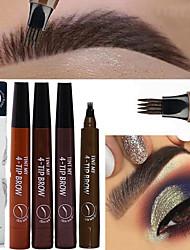 abordables -1 pcs microblading stylo à sourcils stylo imperméable à l'eau pointe de la fourche sourcil crayon de tatouage de longue durée professionnel fine esquisse crayon à sourcils yeux liquide