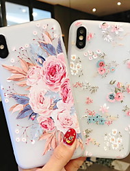 cheap -Case For Apple iPhone XS / iPhone XR / iPhone XS Max Frosted / Pattern Back Cover Flower Soft Silica Gel