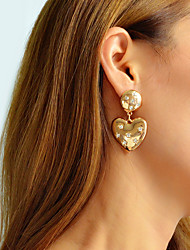 cheap -Women's Drop Earrings Geometrical Heart Stylish Unique Design Trendy Earrings Jewelry Gold For Party Gift Daily Work 1 Pair