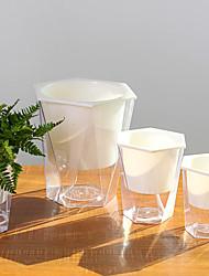 cheap -Transparent Rhombus Self Watering Flowerpot Pretty Plant Pot Home Office Garden Decoration Festival Gift