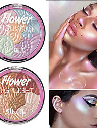 cheap -5 Colors Flowers High-Gloss Powder Repair Capacity Powder Lasting Waterproof Brightening Complexion Copy Powder High-Gloss Cosmetics