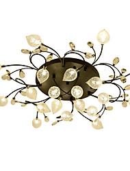 cheap -20 Bulbs ZHISHU 90 cm Crystal / Creative / New Design Flush Mount Lights Metal Glass Cluster / Empire / Bowl Electroplated Artistic / Chic & Modern 110-120V / 220-240V / G4