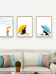 cheap -Framed Art Print Framed Set - People Cartoon PS Illustration Wall Art