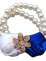 cheap -Wedding Flowers Wrist Corsages Wedding / Wedding Party Grosgrain / Bead / Aluminum-magnesium alloy 0-10 cm