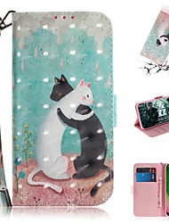 cheap -Case For Motorola Moto G7 / Moto G7 Plus / Moto G7 Play Wallet / Card Holder / with Stand Full Body Cases Animal / 3D Cartoon PU Leather