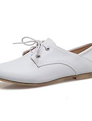 cheap -Women's Flats Flat Heel Round Toe PU(Polyurethane) Preppy Spring & Summer Black / Light Blue / White