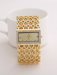 cheap -realy women's quartz diamond case alloy bracelet square watch with super thin hollow strap