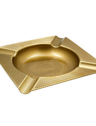 cheap -LUBINSKI Travel Large Square Brass Metal  Cigar Cigarette Ashtray Holder for Patio / Outdoor Use Packed With Nice Gift Box