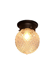 cheap -1-Light Glass Ceiling Light Globe Flush Mount Lights Ambient Light Painted Finishes Metal