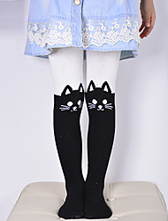 cheap -Baby Kids Girls Cotton Cute Cat Tights Socks Stockings Pants Hosiery Pantyhose