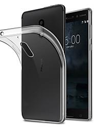 Недорогие -Кейс для Назначение Nokia Nokia 7 / Nokia 6 Защита от пыли Кейс на заднюю панель Однотонный Мягкий ТПУ