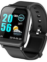 Недорогие -Жен. электронные часы На каждый день Мода Черный Синий Красный силиконовый Цифровой Лиловый Красный Синий Защита от влаги Bluetooth Smart 30 m 1 комплект Цифровой
