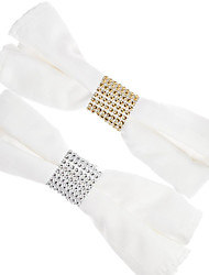 cheap -50PCS/100PCS Elegant Napkin Ring with 8 Row Rhinestone Pretty Napkin Holder Decoration for Wedding Party