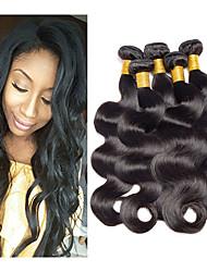 Недорогие -5 Связок Бразильские волосы Естественные кудри Свободные волны Натуральные волосы 250 g Человека ткет Волосы 8-26 дюймовый Ткет человеческих волос Горячая распродажа Расширения человеческих волос