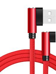 Недорогие -Micro USB Кабель 1.0m (3FT) Быстрая зарядка Нейлон Адаптер USB-кабеля Назначение LG / Lenovo / Xiaomi