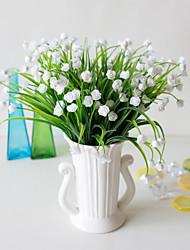 abordables -simulation 7 fourchette bourgeon de rose d'eau Vente en gros plante décoration fournitures décoration pour la maison fleur en pot chambre étude décoration