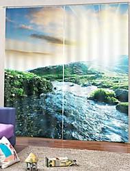 abordables -nordique style haute définition 3d impression polyvalente rideau épaississement blackout antipoussière ridée anti-rides rideau 100% polyester rideau pour bureau chambre