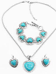 cheap -Women's Bridal Jewelry Sets Retro Sweet Heart Fashion Cute Earrings Jewelry Black / Red / Blue For Party Daily 1 set