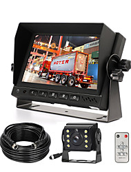 cheap -Wired AHD Backup Camera Monitor Kit for Truck/Semi-Trailer/Box Truck/RV/Camper/Bus/Van/Farm Mach/Motorhome/5th Wheel HD 7Inch Digital TFT Monitor  AHD Mini Camera