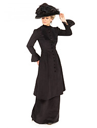 cheap -Duchess Victorian Ball Gown 1910s Edwardian Dress Party Costume Women's Costume Black Vintage Cosplay Masquerade Long Sleeve Floor Length Plus Size / Blouse / Pants / Blouse / Pants
