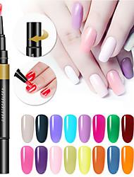 abordables -24 couleurs 3 en 1 gel vernis à ongles stylo ongles art astuces uv vernis gel hybride une étape sucre ongles colle pas besoin top coat bas