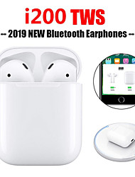 cheap -Original i200 TWS True Wireless Earbuds Wireless Qi Charging Bluetooth 5.0 6D Bass Earphone Pop Up Window with iOS Auto Pairing Touch Control Function