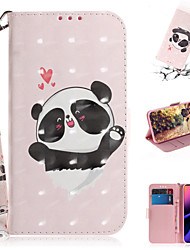 cheap -Case For Apple iPhone XS / iPhone XR / iPhone XS Max Wallet / Card Holder / with Stand Full Body Cases Animal / 3D Cartoon PU Leather