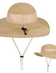 Недорогие -Шляпа для туризма и прогулок Рыбалка Шляпа Шляпа Boonie Защита от солнечных лучей Устойчивость к УФ Хлопок Весна Лето для Муж. Жен. Рыбалка Восхождение На открытом воздухе Военно-зеленный Хаки Черный