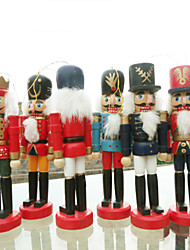 cheap -Christmas Walnut Clip Ornament Mini Puppet Toy Little Tin Soldier Decor 6pcs/set