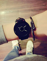 cheap -Dress Watch Leather Analog Black belt black plate Black belt with white plate White belt white plate / Stainless Steel