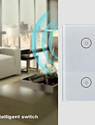 cheap -WiFi Control Speech Remote Control Switch Intelligent Home 2-Key Switch