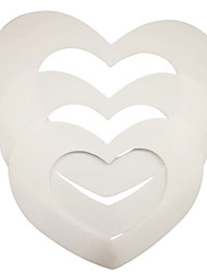 cheap -3pcs/set Heart Shape 6 inches/ 8 inches/ 10 inches Plastic Cake Mold Decorating Tools