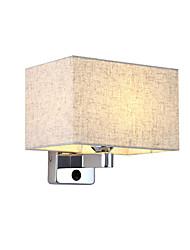 abordables -lampe de mur en tissu moderne maison applique couloir chambre lampes de chevet