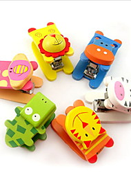 cheap -1pc cartoon mini stapler cute wooden creative bookbinding machine student learning office stationery