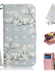cheap -Case For Samsung Galaxy Note 10.1 Wallet / Card Holder / with Stand Full Body Cases Flower PU Leather