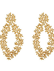 cheap -Women's Drop Earrings Earrings Geometrical Flower Dangling Fashion Earrings Jewelry Rose Gold / Black / Gold For Wedding Gift Daily Graduation Festival 1 Pair