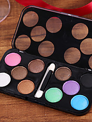 cheap -10 Colors Eyeshadow Adult Daily EyeShadow Lidded Portable Carrying Single Open Lid Women Portable Tool Case Casual / Daily Daily Makeup Party Makeup Cosmetic Gift