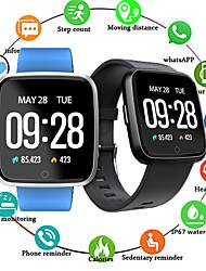 Недорогие -ec02 bluetooth-смарт часы сердечный ритм цветной экран шагомер для Android для IOS часы давления для Huawei Android IOS