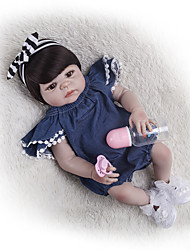cheap -22 inch Reborn Doll Baby Girl Kids / Teen with Clothes and Accessories for Girls' Birthday and Festival Gifts / Full Body Silicone / Full Body Silicone